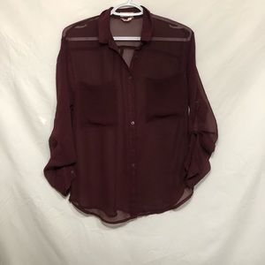 Sheer maroon blouse